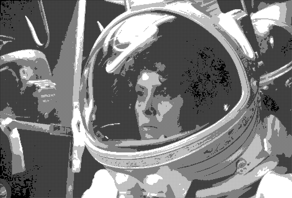 Ripley in her space suit, from the film Alien; 4 level ordered dither